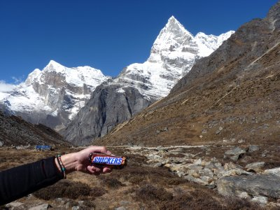 After summit day my fuel to get my feet moving down were many snickers and mars...
