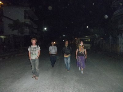 Vibrant nightlife in Pokhara