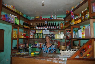 One of the many little shops, which get their supplies often walked in
