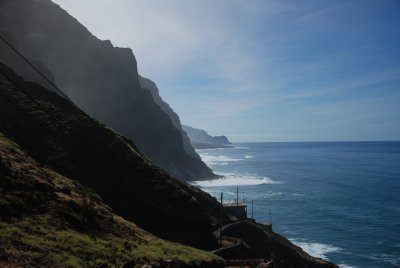 the beautiful coastal walk towards cruzinha da Garca