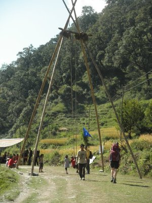 The beautiful swings which you find throughout Nepal made from bamboo