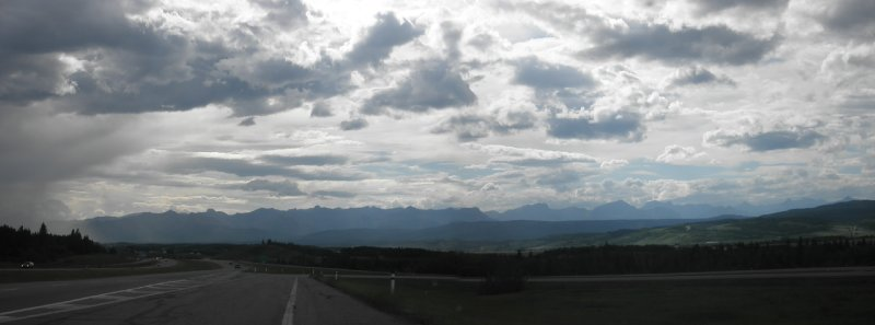 The Canadian rockies coming from Calgary