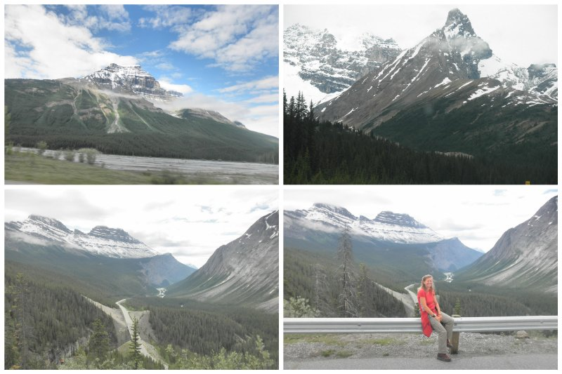 The beautiful Icefields Parkway.