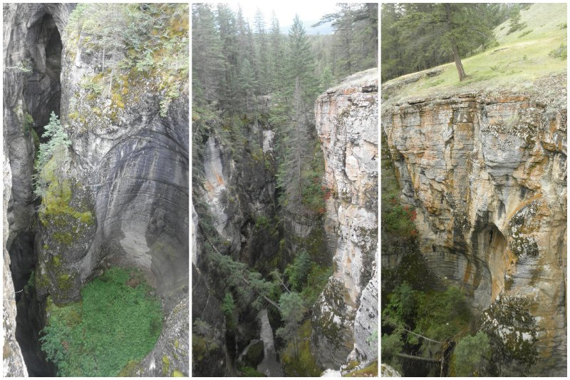 If you think that stone is harder than water: just have a look at the Maligne Canyon: the water has shaped perfect rounds everywhere.