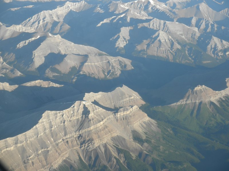The canadian Rockies from the sky