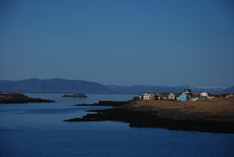Flatey, the very tiny island on the Island of Iceland. We were really wondering why the ferry was stopping here, except for entertaining some children living there.