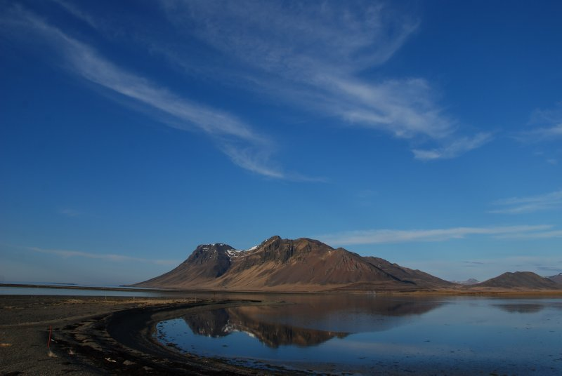 From Stykkisholmur to Grundarfjördur you have a beautiful drive through lava fields, little mountains mirroring in the water, and small villages along the coast