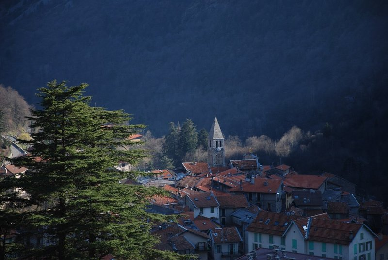 St Martin de Vesubie. A lovely village where there was 1 hotel open and 1 restaurant...