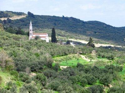 Hillside church near Topolia