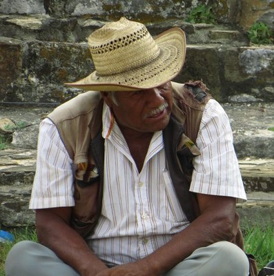 Local man at Monte Alban