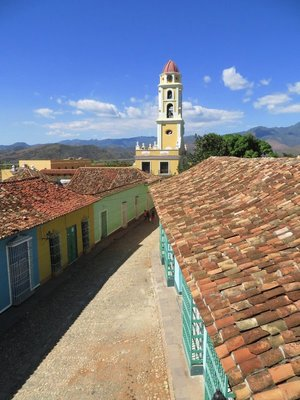 Alley and Tile Roofs