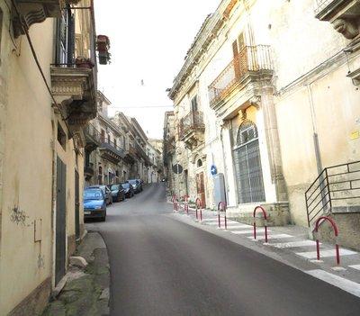 Larger street in Modica Alta
