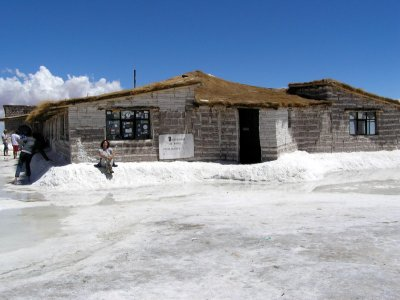 Salt Hotel on Island in Solar
