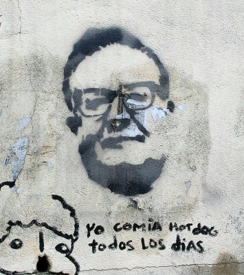 Allende on a Wall in Valparaiso