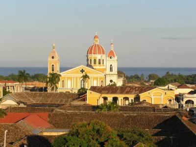 Catedral from Chuch Tower with Lago Nicaragua
