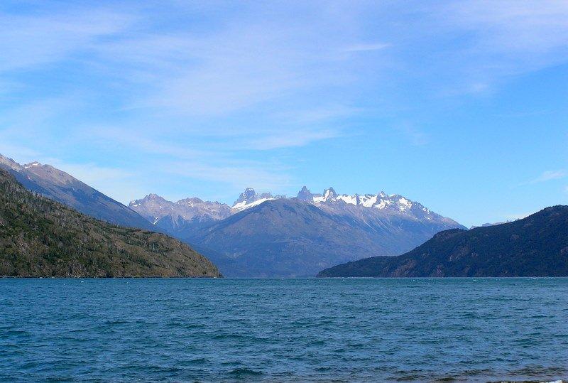 Lago Puello with Tres Picos in Distance