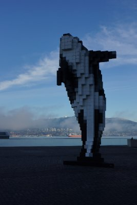 The Digital Orca artwork at Canada Place.