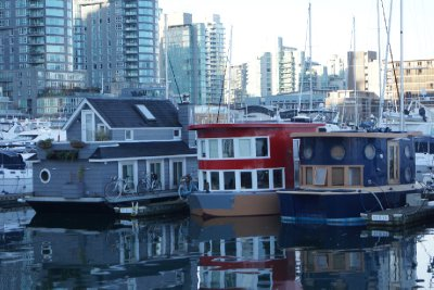Houseboats at Coal Harbour.