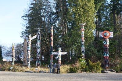The stanley Park Totem Poles.
