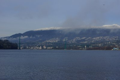 Looking towards the Lions Gate Bridge from Brockton Point.