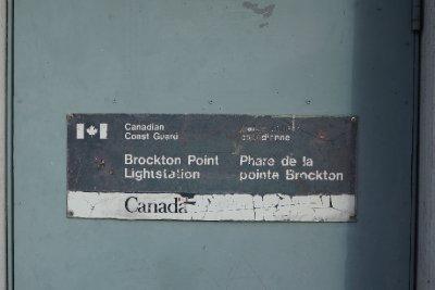 Brockton Point Lighthouse plaque.