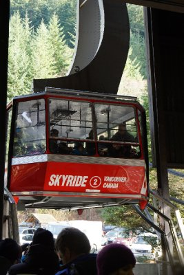 About to hop into that to get to the top of Grouse Mountain.