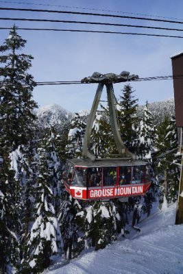 The Skylift to Grouse Mountain peak.