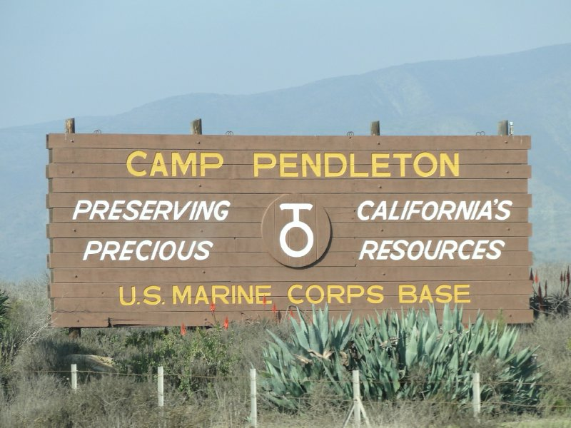 Camp Pendleton sign
