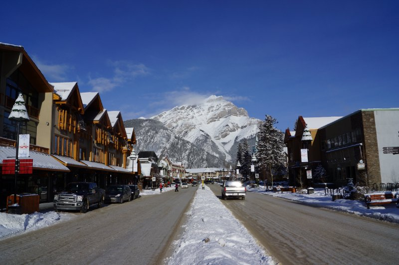 Banff Avenue - the main street.