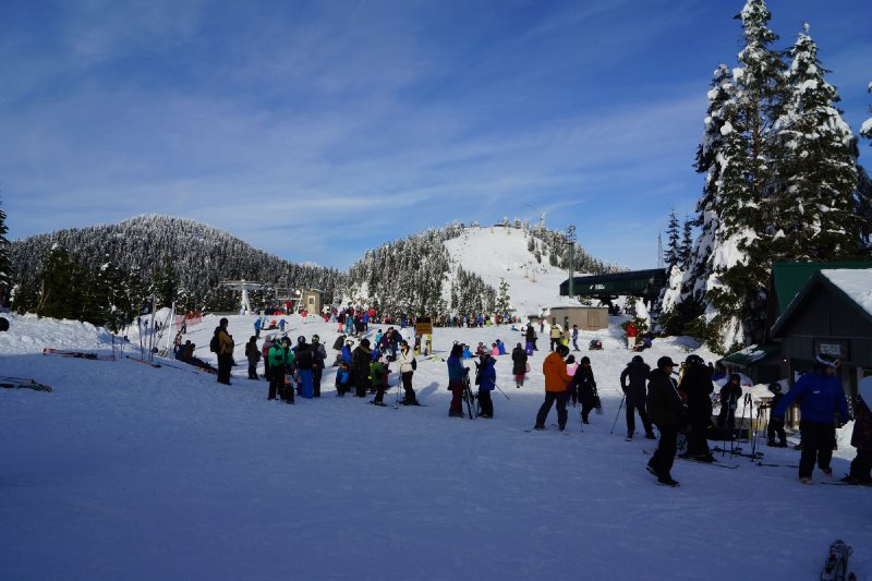 Slopes at Grouse Mountain.