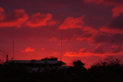 Sunset over Darwin Research Center