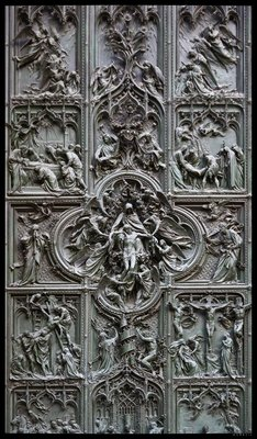 Detail of one of the Duomo's doors