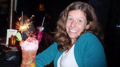 Megan Drink Sparkler Amsterdam