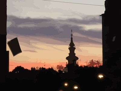 Belgrade - Vectorized dusk