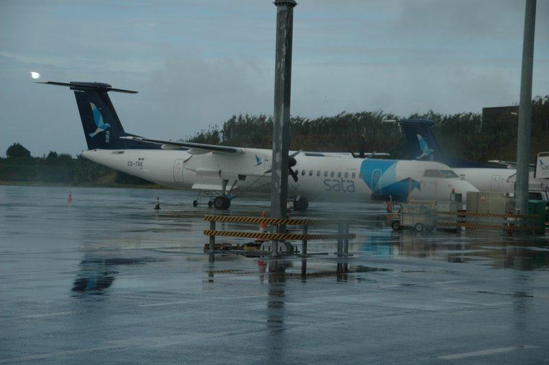 Sata Airplane at Ponta Delgada