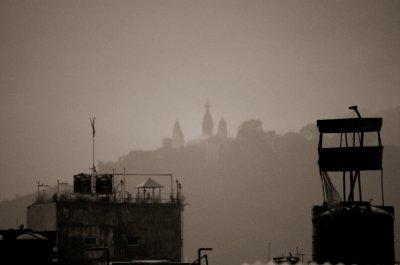 Swayambhunath, Monsoon time