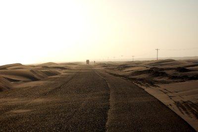 Road across the desert