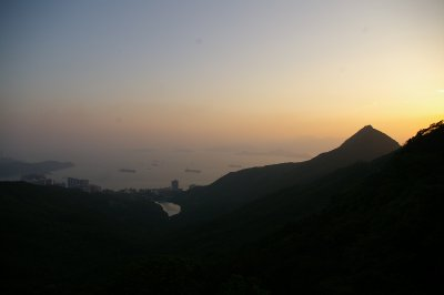 Victoria peak away from town