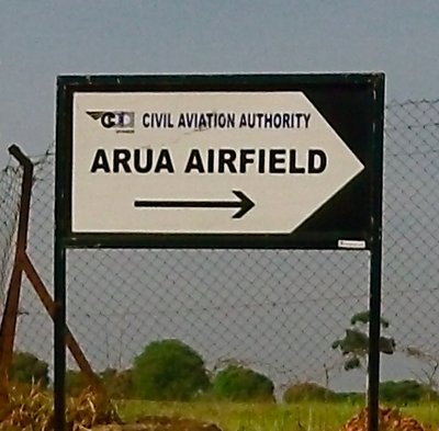 Arua Airport Sign