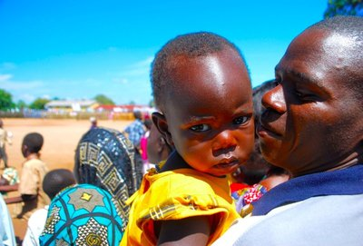 Ugandan baby at the celebrations