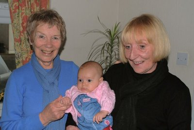 Aunt Mo (on the right) and wee Amelie