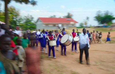 Marching at the AIDS Awareness Day in Maracha