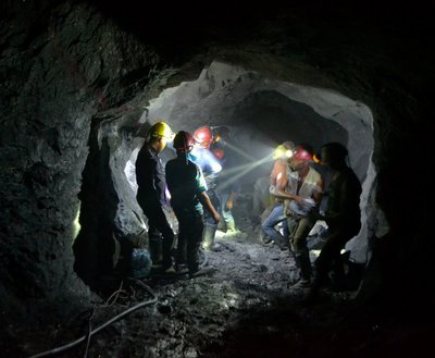 Miners 700m below the surface