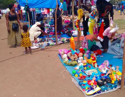 Arua Christmas trade fair selling 2nd hand toys