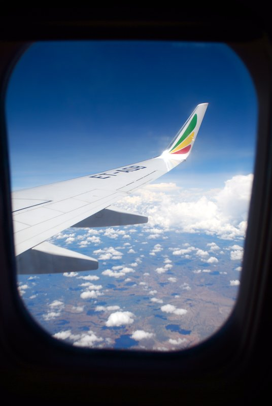 Ethiopian airways flight back to Uganda