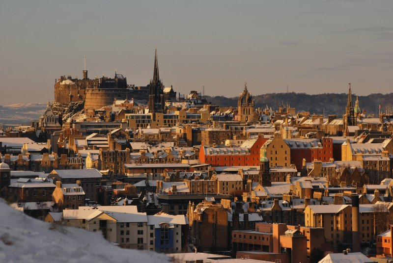 Old Town Edinburgh in the Snow