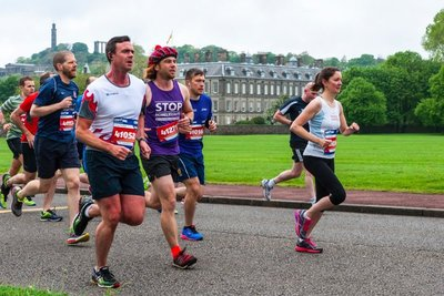 Running in the Edinburgh Marathon Festival 10km 2016