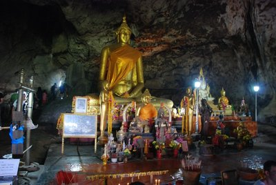 The shrine inside the Krasae cave which is near Wang Pho station