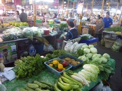 A view inside the busy market where the Chef brought items for my day at his cooking school