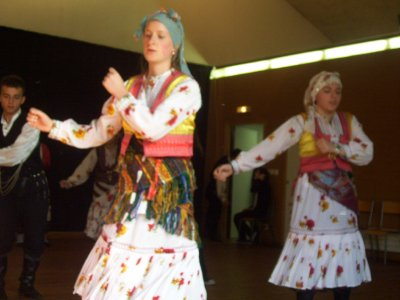 Students in Turksih costumes